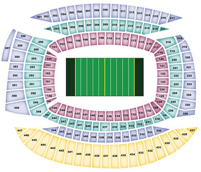 Chicago Bears Seating Chart  BearsSeatingChart